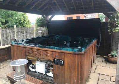 hot tub repairs on slabs